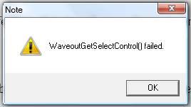 Waveout Error